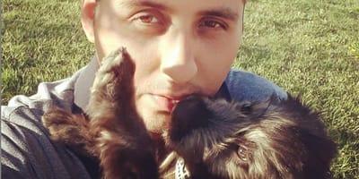 cane con un ragazzo