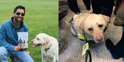 Bezduszni pasażerowie doprowadzają niewidomego do płaczu: mężczyzna bronił psa przewodnika