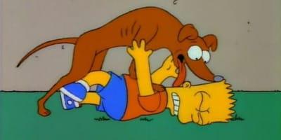 Simpsons Hund Knecht Ruprecht