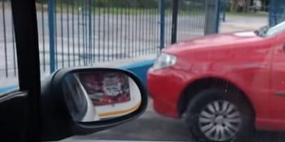 """Zostawia otwarte auto. Kiedy wraca, na siedzeniu pasażera zastaje """"gigantyczną"""" niespodziankę!"""