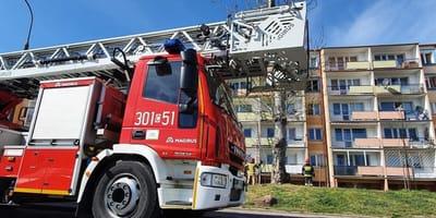 Wóz strażacki.