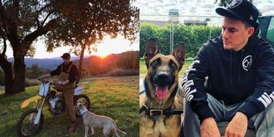 Channing Tatum and his dog
