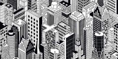 Zeichnung von einer Stadt