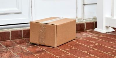 box on a doorstep