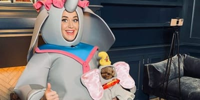 Katy and Nugget wore matching outfits
