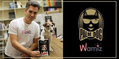 Wamiz Gründer Adrien Ducousset mit der Palm Dog Wamiz