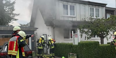 Feuerwehrmann stürzt mit Kätzchen aus brennendem Haus: Was folgt, ist sensationell