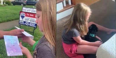 Dziewczynka dostaje prezent od swojego zmarłego owczarka niemieckiego. Kiedy go widzi, wszystkim płyną łzy