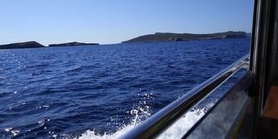 vista del mar desde un barco