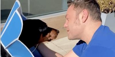Tiziano Ferro e il suo cane