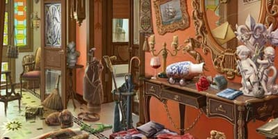 There's a cat hiding in this room – can you see it?