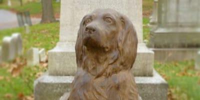 Statuta-di-bronzo-raffigura-cane