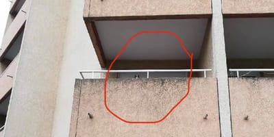 Neighbours shocked at what they see on family's balcony