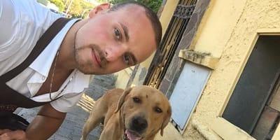 Pasquale Consiglio e cane randagio