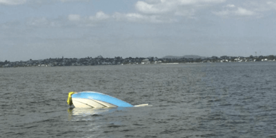 Police can't believe what they find next to capsized boat 11 hours after wreck