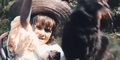 """El primer vídeo de gatos del mundo es de 1899: """"La niña pequeña y su gato"""", ahora en color"""