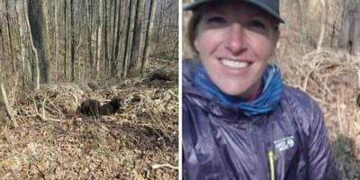 encuentran cachorros abandonados bosque