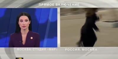 Mitten in Live-Schalte: Russische Reporterin erlebt peinlichen Moment!