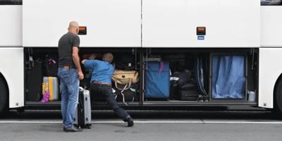 Gepäckraum von Bus