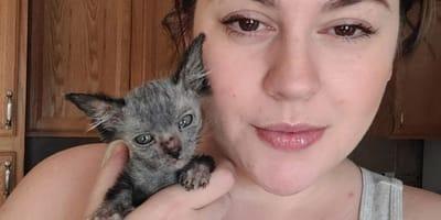 Halterin Brianna und Katzenkind Gracie