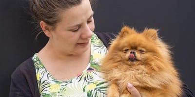 Sarafina Wollny und Hund Feivel.