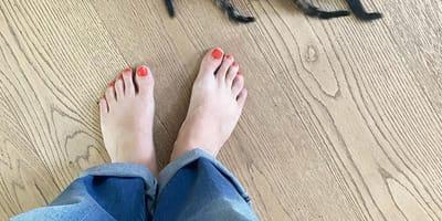 Die Füße von Judith Rakers.