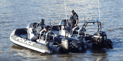 police-in-motorboats