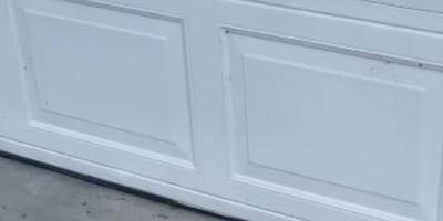 Forma inanimata davanti al garage: reagiscono all'istante (Video)