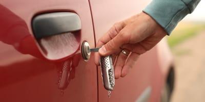 Ruba un'auto al distributore di benzina... e ciò che c'è dentro (Foto)