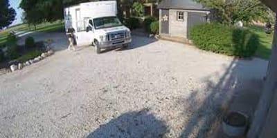 Samochód dostawczy parkuje pod domem. Kiedy kobieta odtwarza nagranie z monitoringu, jest przerażona