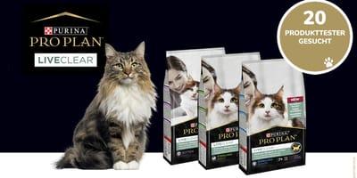 Produkttester für Pro Plan® LiveClear® gesucht!