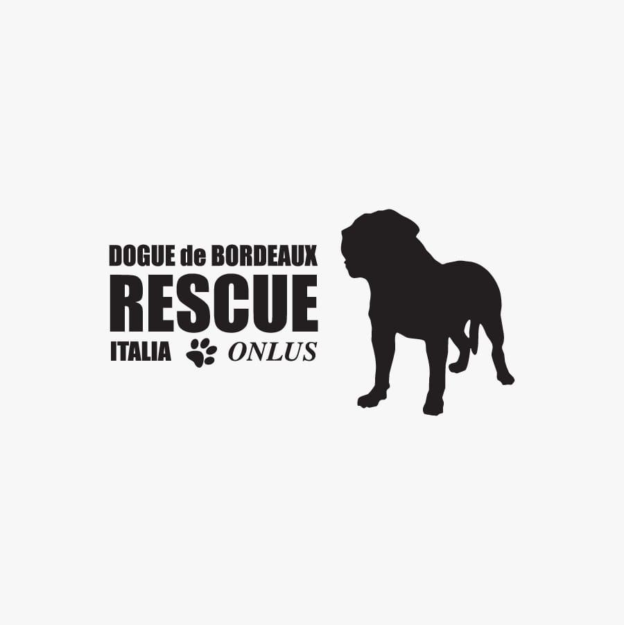 Logo dell'associazione Dogue de Bordeaux Rescue Italia onlus