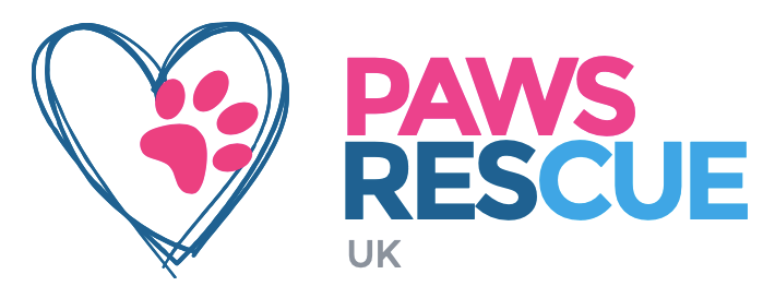 Charity's logo Paws Rescue UK