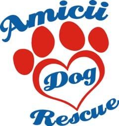 Charity's logo Amicii Dog Rescue