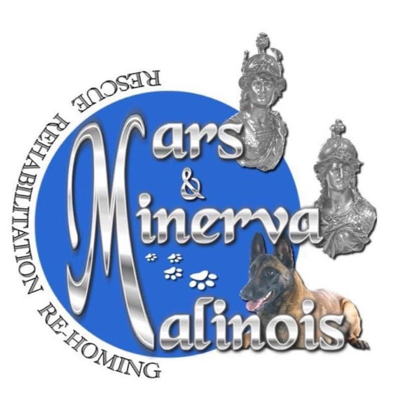 Charity's logo Mars and Minerva Malinois Rescue